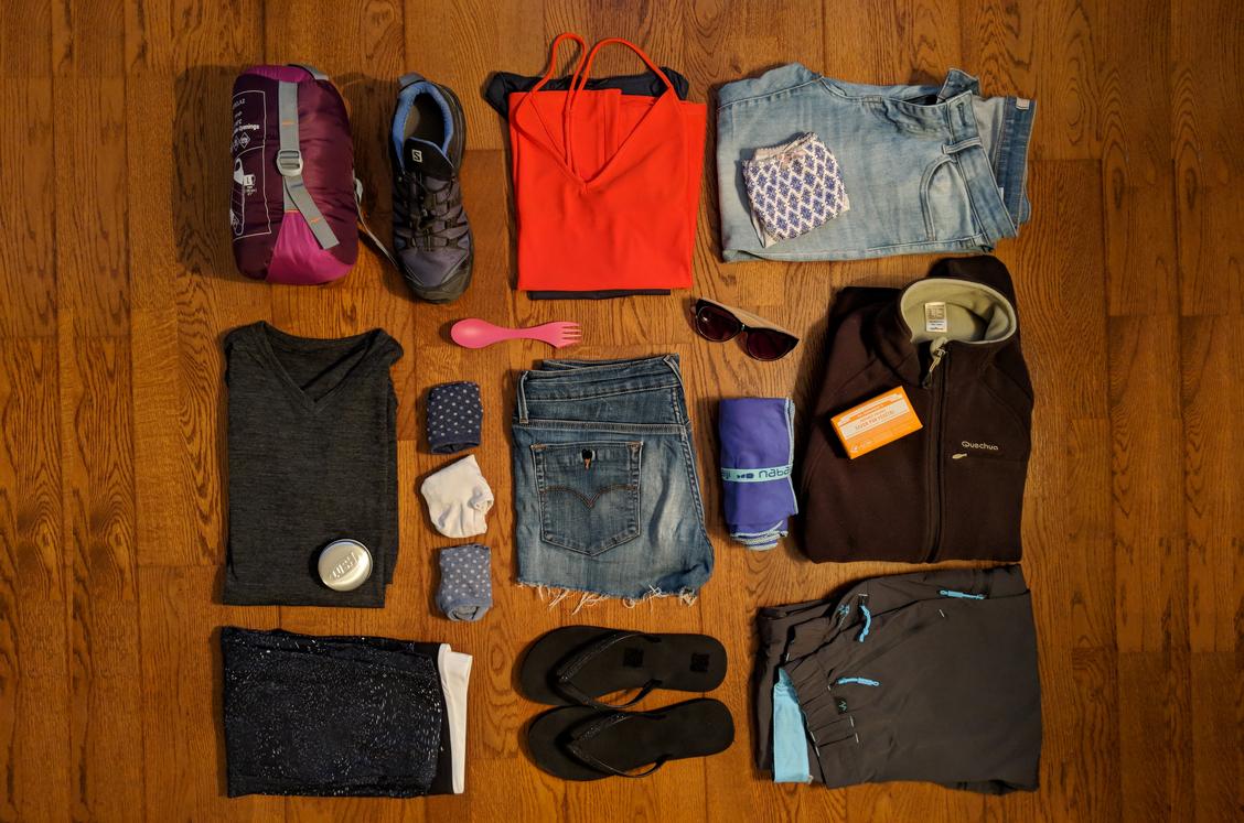 Vêtements de femme pour un tour du monde