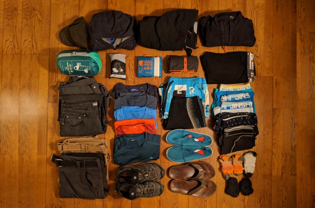 Vêtements Homme pour un Tour du Monde