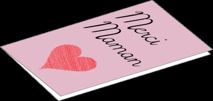 "Carte de remerciement ""merci Maman"""