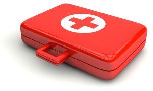 malette de 1er soins rouge