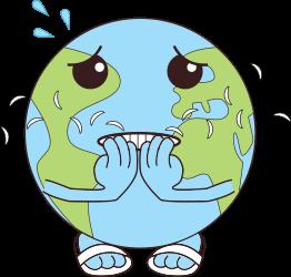 logo planète angoissée en train de se ronger les ongles