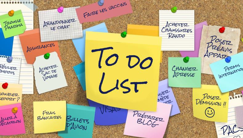 Liste de choses à faire avant un tour du monde