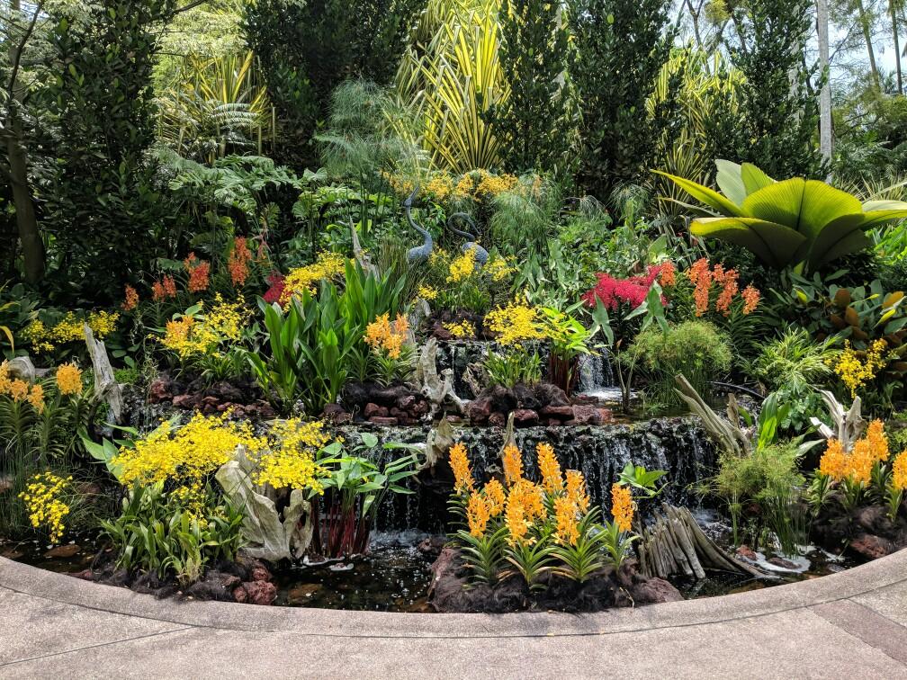 Entréde du jardin des orchidées au jardin botanique de Singapour