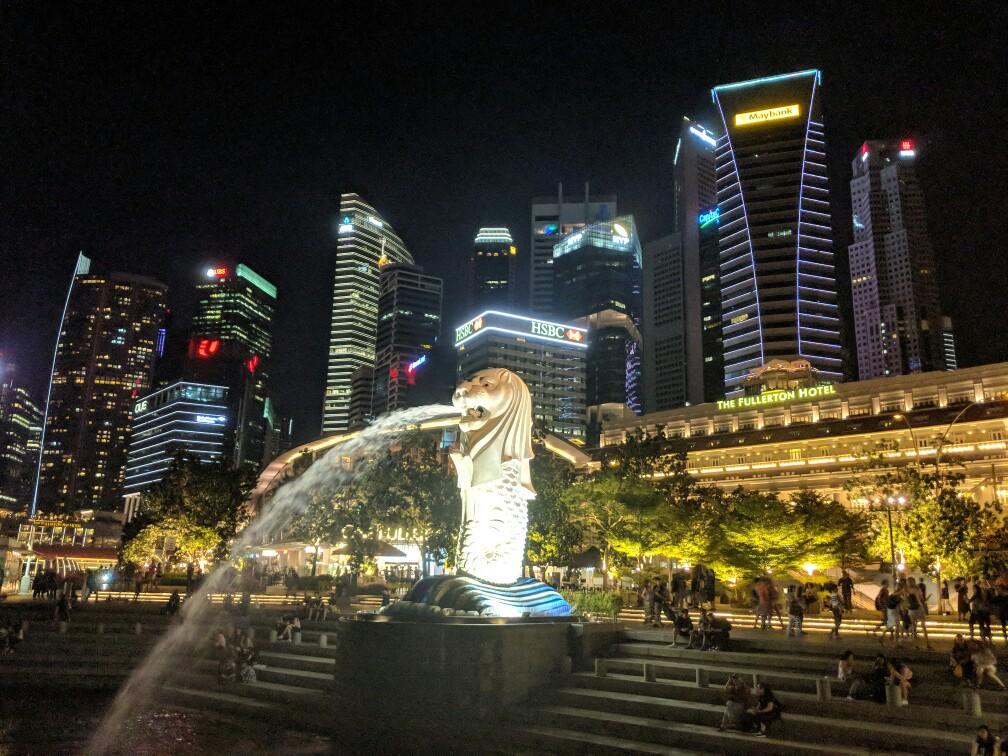Le Merlion emblème de Singapour