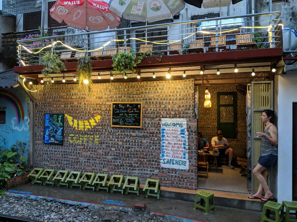 Façade du RailwayStation Cafe à Hanoi
