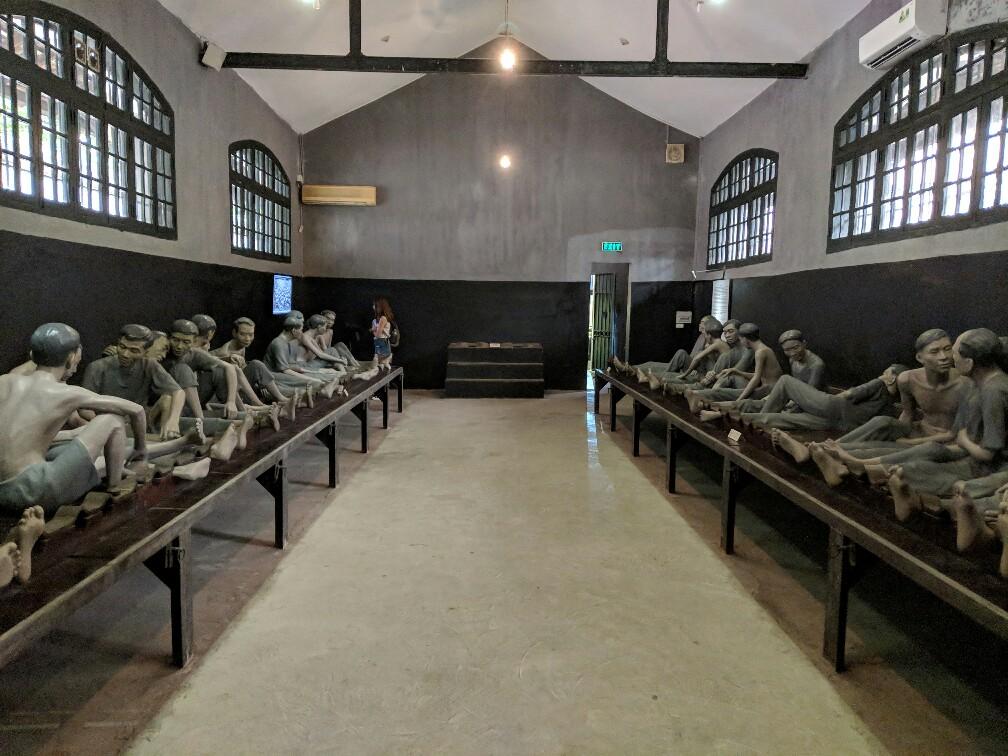 Cellule principale de la prison Hoa Lo à Hanoi