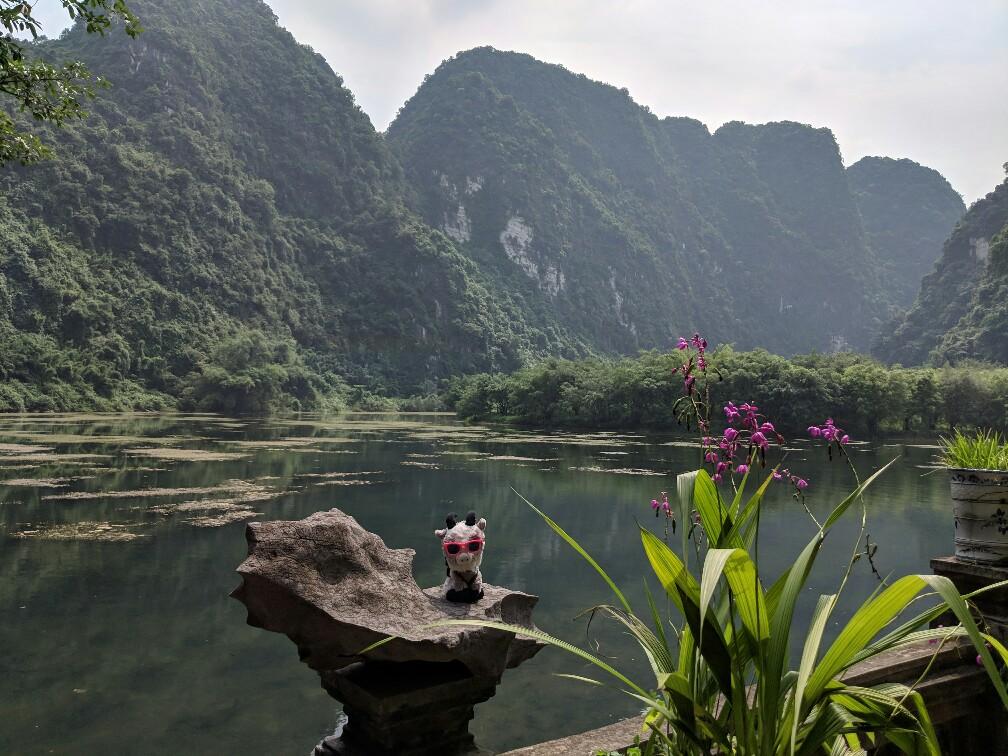Panorama sur le site de Trang Anh au Vietnam