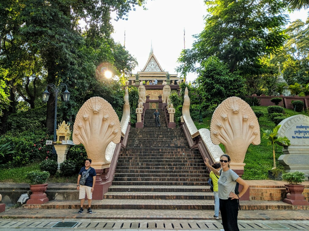 Temple de Wat Phnom à Phnom Penh, Cambodge