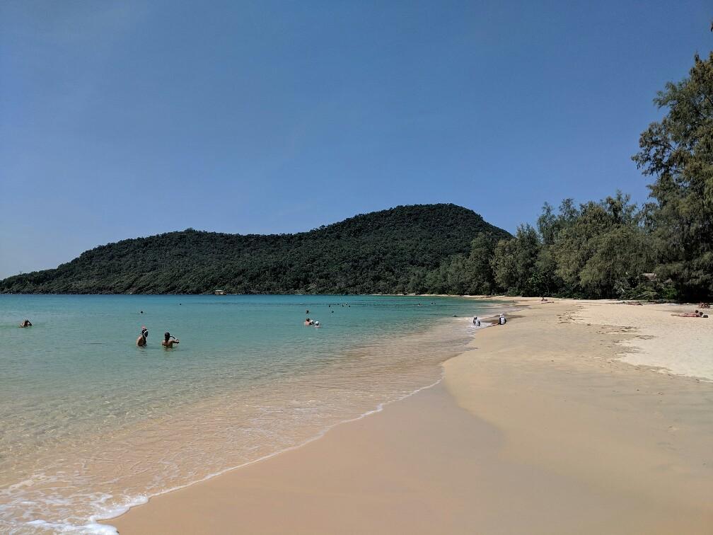 Plage de Lazy Beach à Koh Rong Sanloem, Cambodge