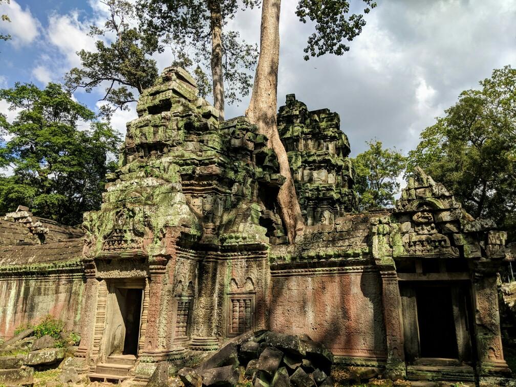 Entrée du temple de Ta Prohm, Cambodge
