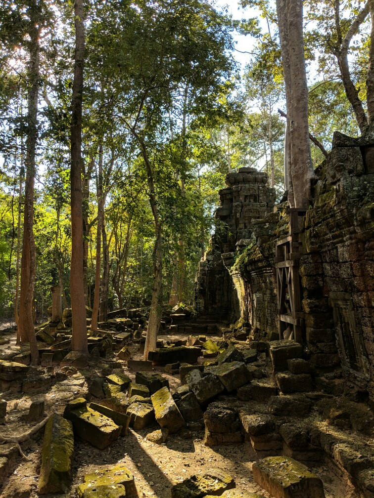 Rempart du temple de Ta Nei, Cambodge