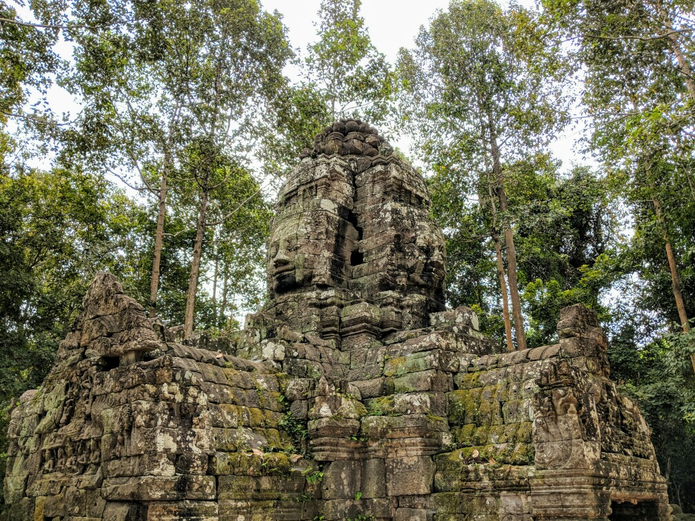 Têtes de Bouddha au temple de Ta Som, Cambodge