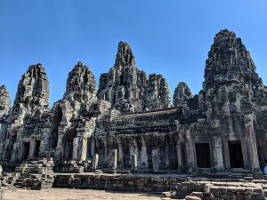 Vue d'ensemble du temple du Bayon, Cambodge