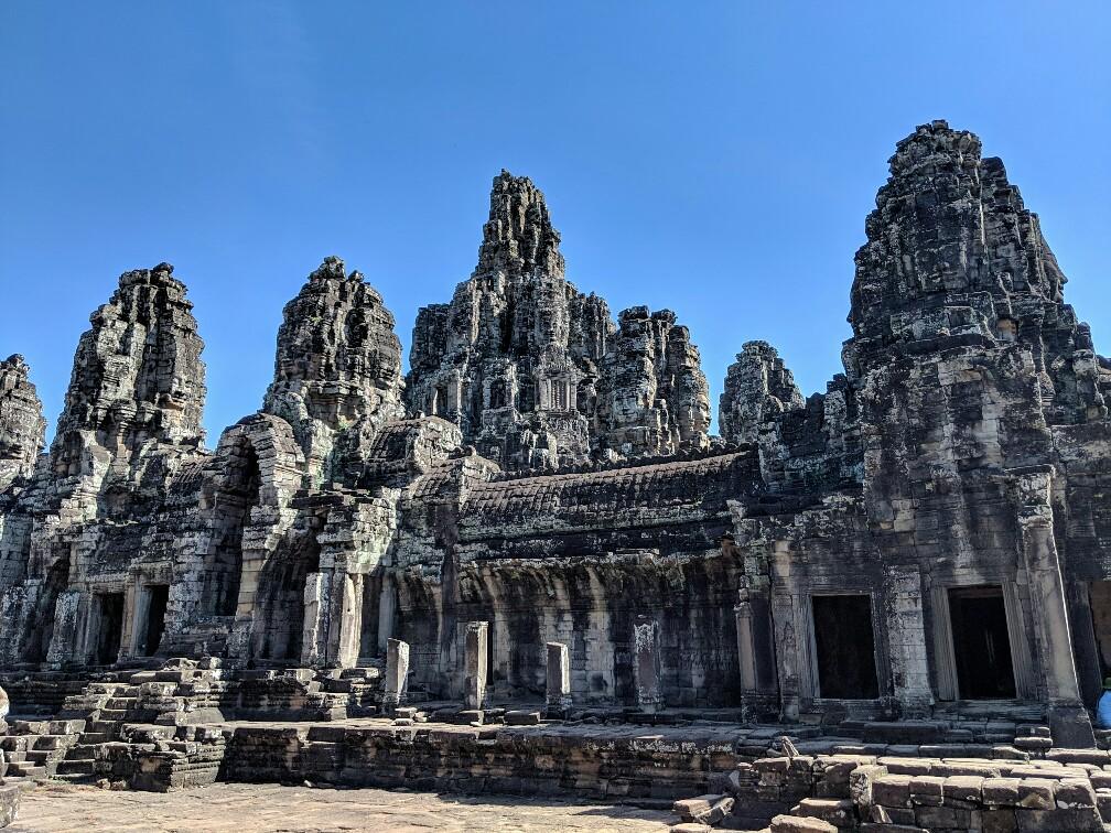 Vue d'ensemble du temple du Bayon, Cambodge