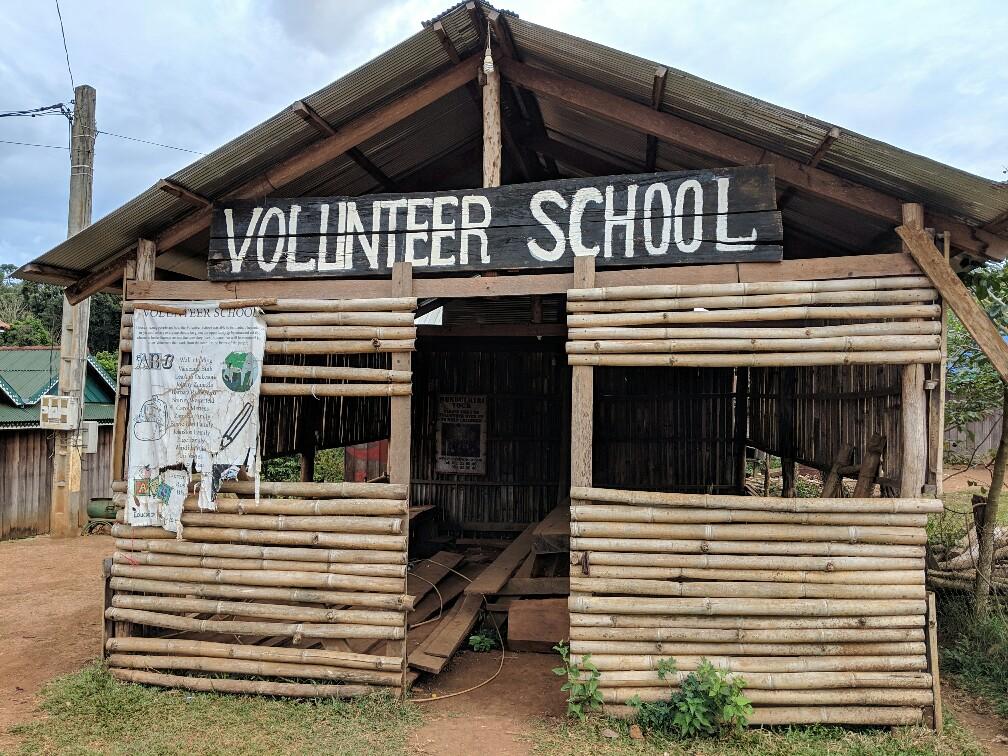 École abandonnée au village Bunong, Cambodge