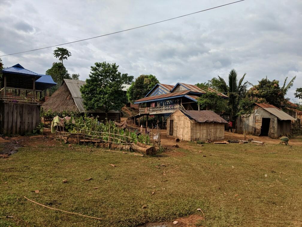 Village principal Bunong, Cambodge