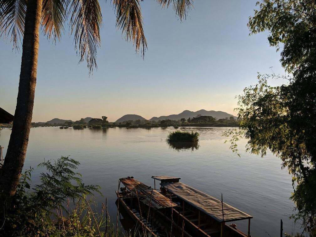 Vue sur le Mekong depuis Don Det, Laos