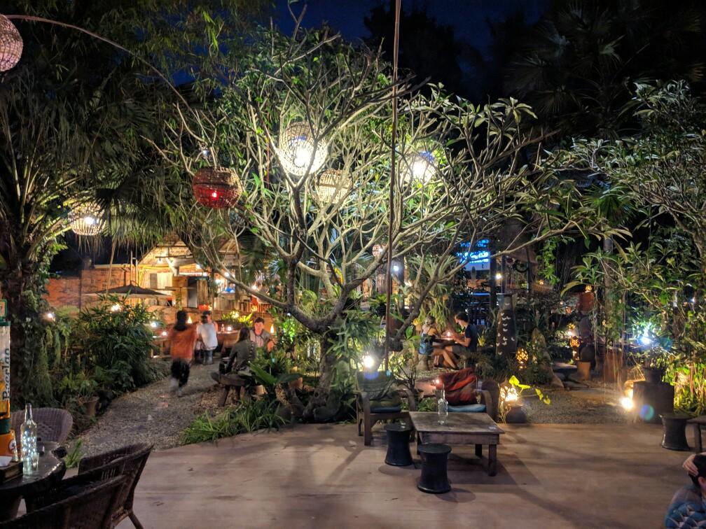 Bar de l'Utopia à Luang Prabang, Laos