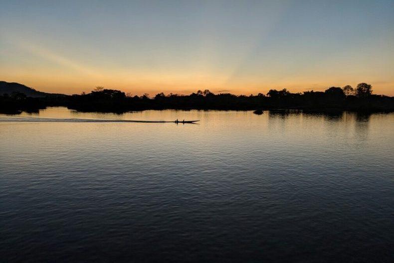 Coucher de soleil à Don Det, Laos