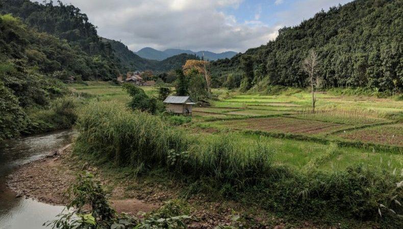 Paysage sur la route de Muang Sing, Laos