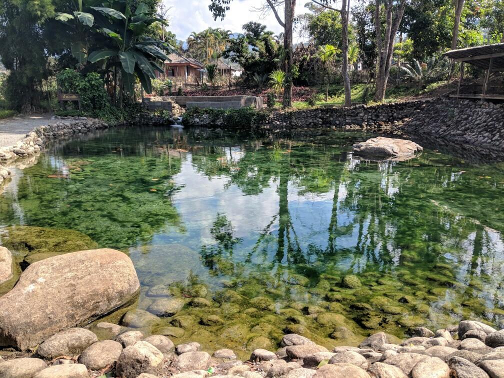 Bassin naturel vers Mae Chaem, Thailande
