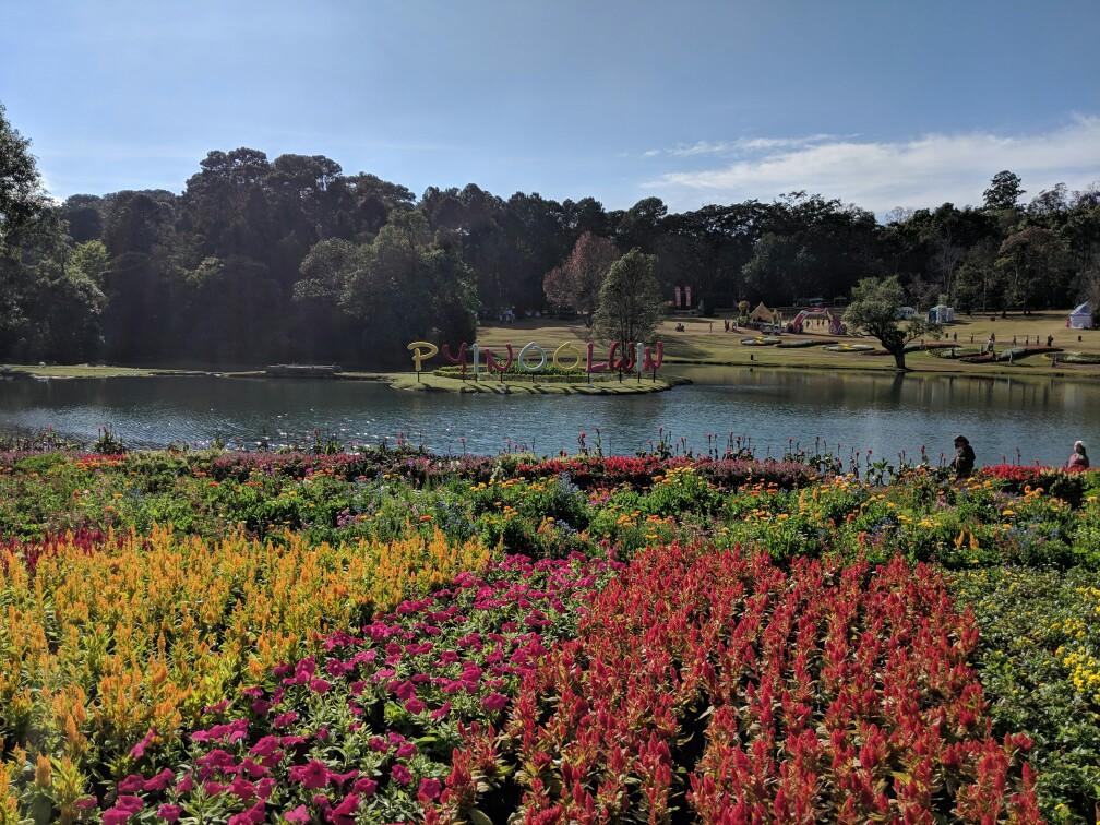 Vue sur le lac du jardin botanique de Pyin Oo Lwin, Birmanie