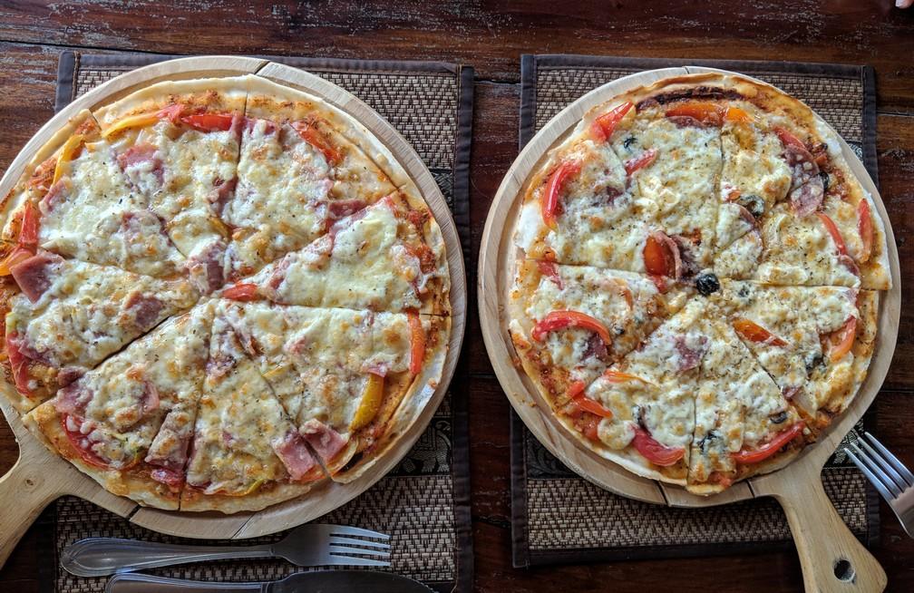 Deux pizzas très appétissantes