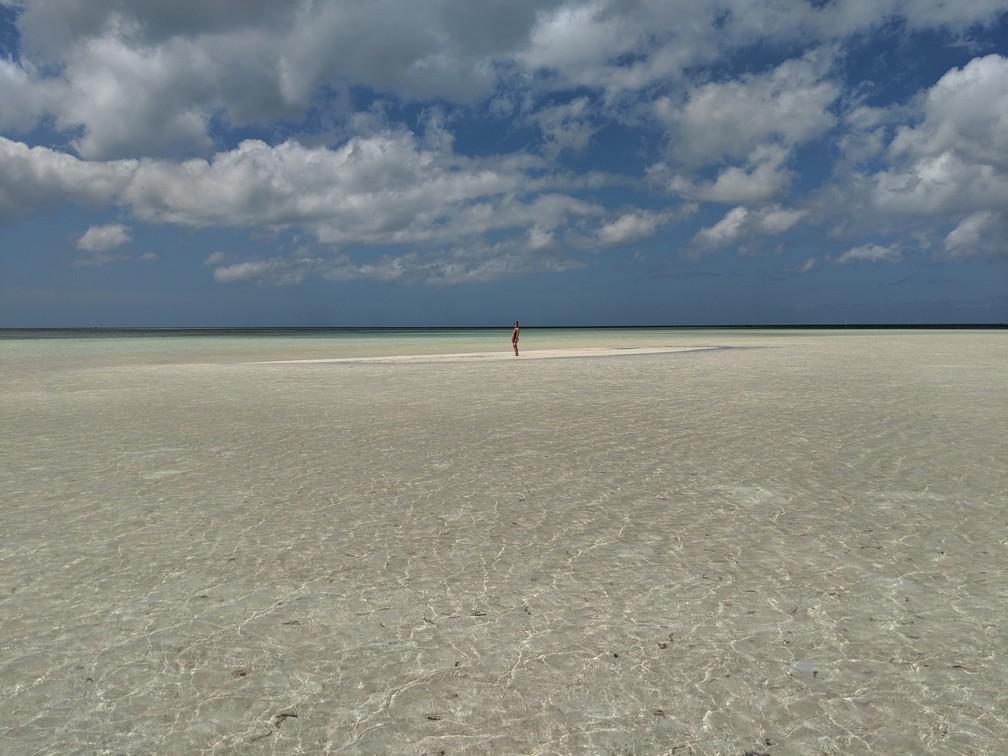 Salomé au milieu d'un banc de sable immense à Balabac