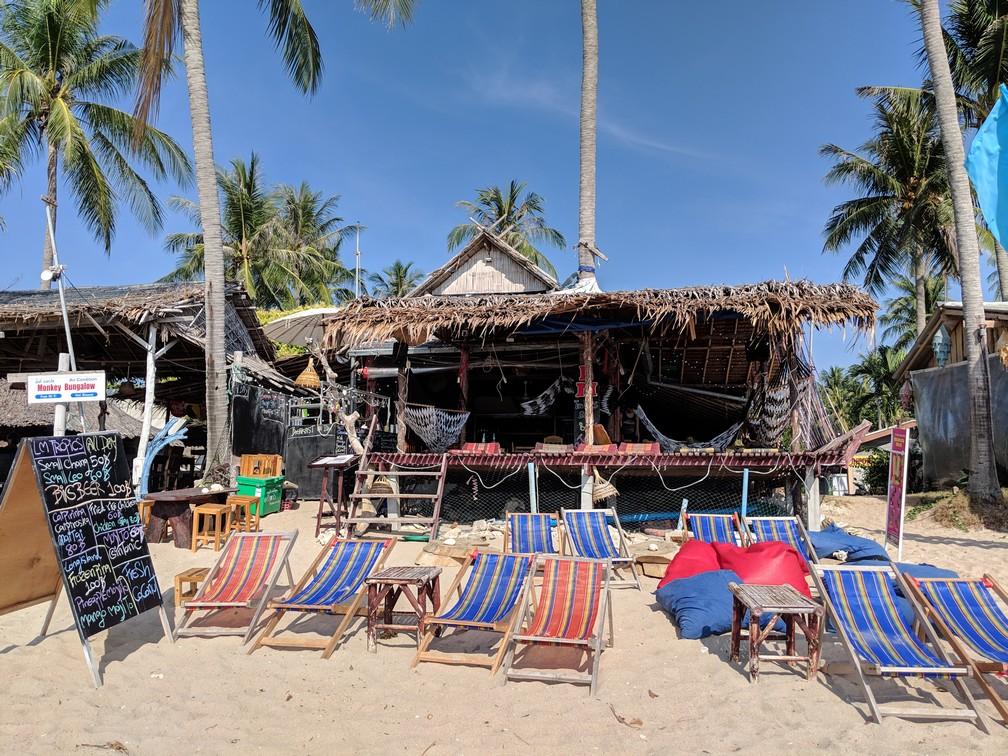LM Tropics Bar&Restaurant vu depuis la plage