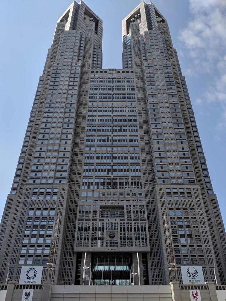 Les deux tours immenses de la Mairie de Tokyo