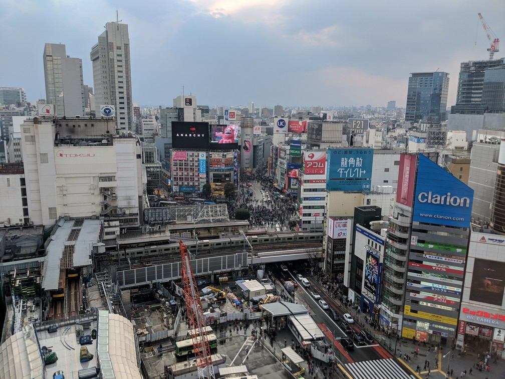 Vue sur Shibuya depuis la Tour Hikarie