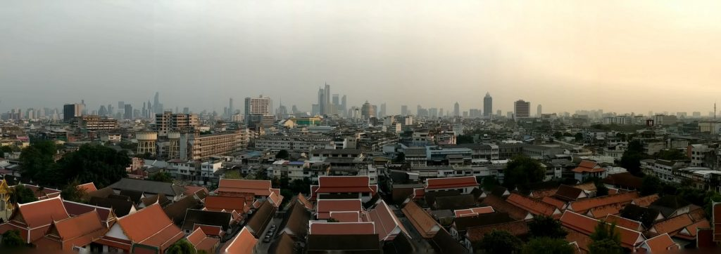 Panorama sur Bangkok depuis la Golden Mountain