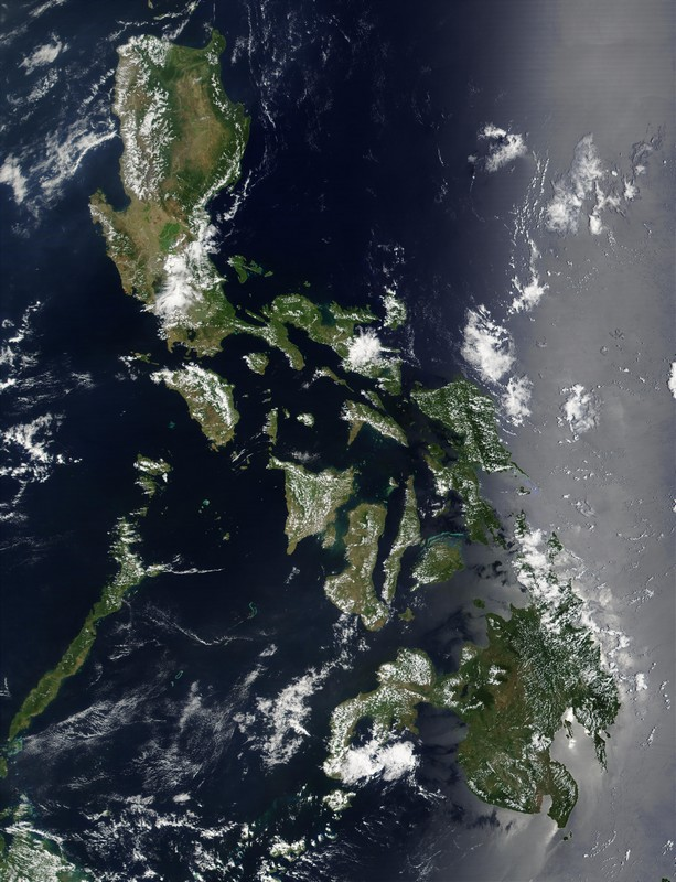 Vue satellite des Philippines