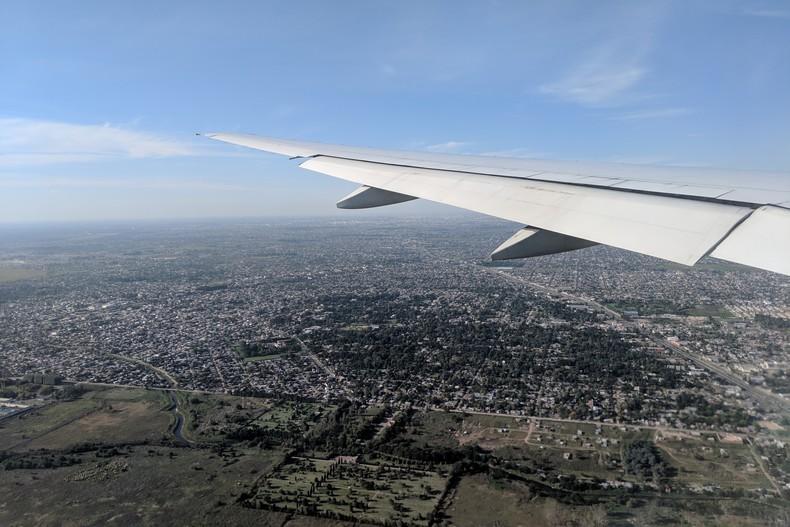 Vue aérienne de Buenos Aires