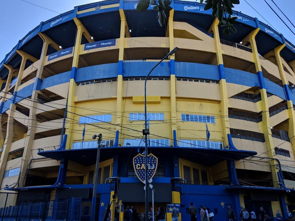 La Bombonera, grand stade bleu et jaune