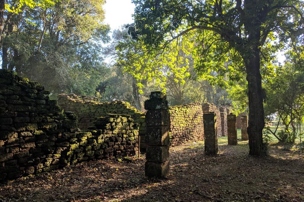 Ruines de la mission jésuite de San Ignacio Mini en Argentine
