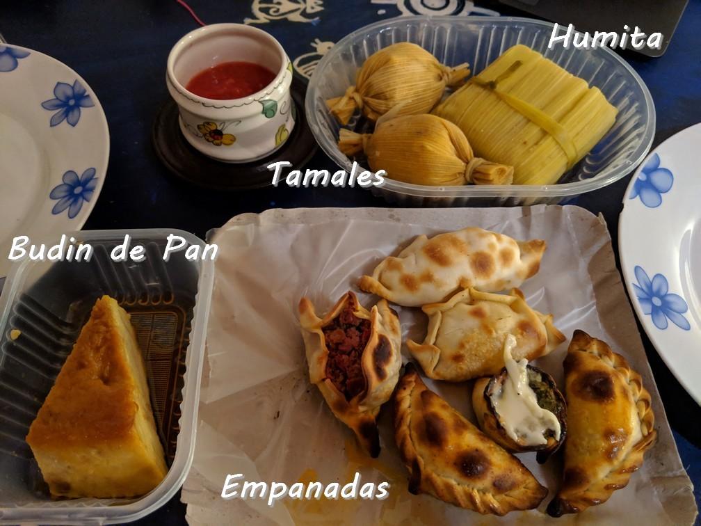 Empanadas, Humitas, Tamales et Budin de Pan à emporter à Salta en Argentine