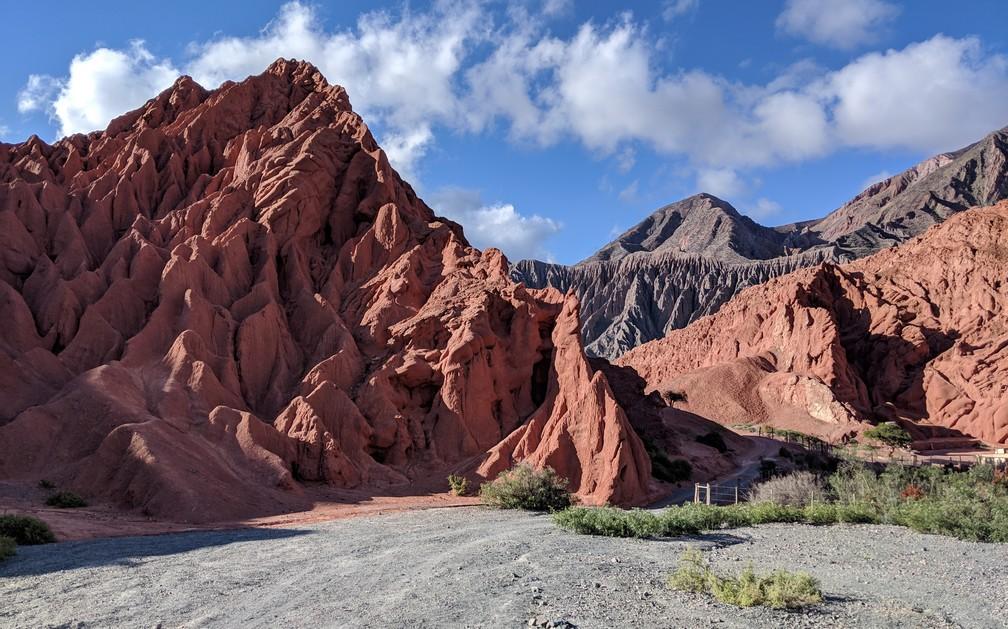 Chemin Paseo del Colorades au dessus de Purmamarca sur la boucle nord de Salta