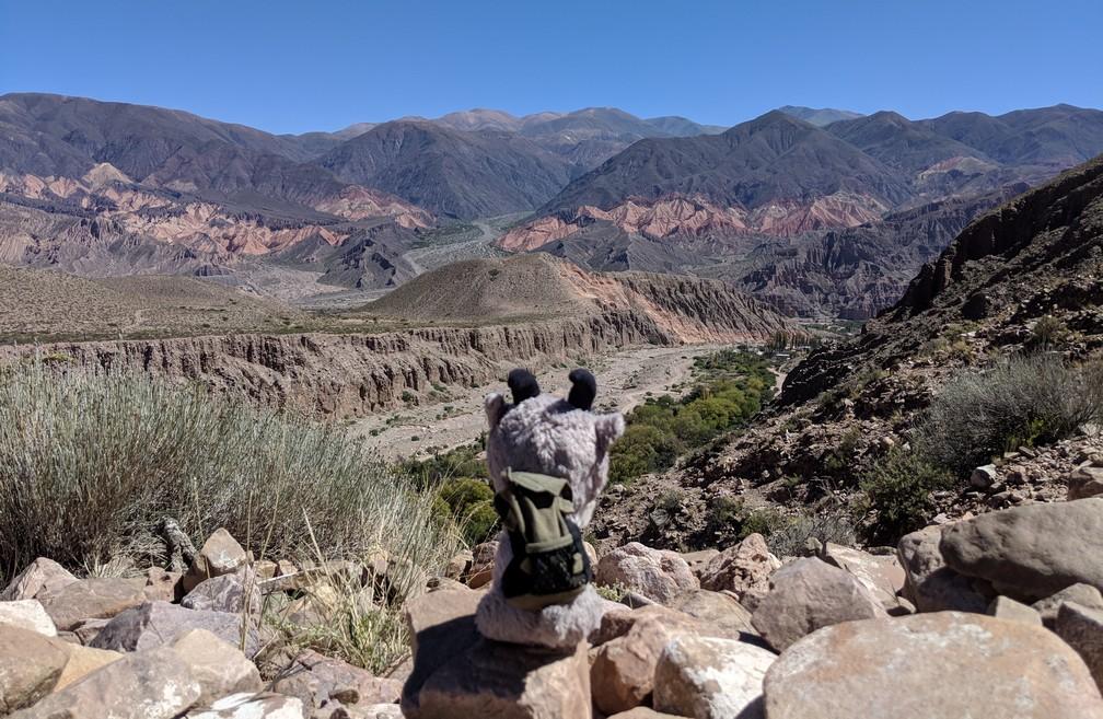 Vue sur les montagnes depuis le sentier de la Garganta del Diablo à Tilcara