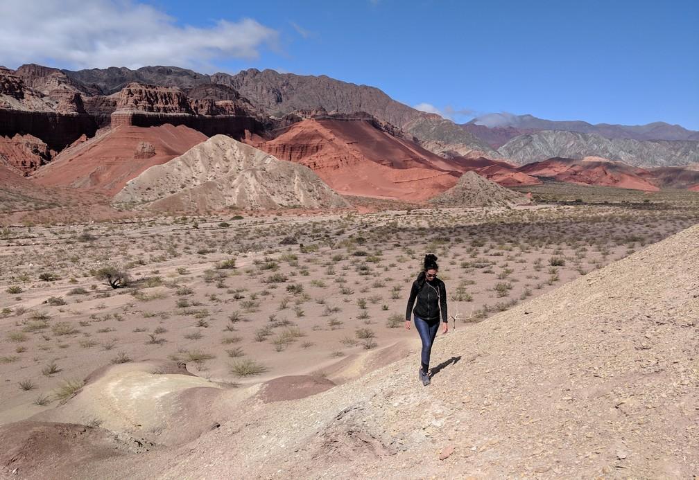 Salomé marche dans La Yesera