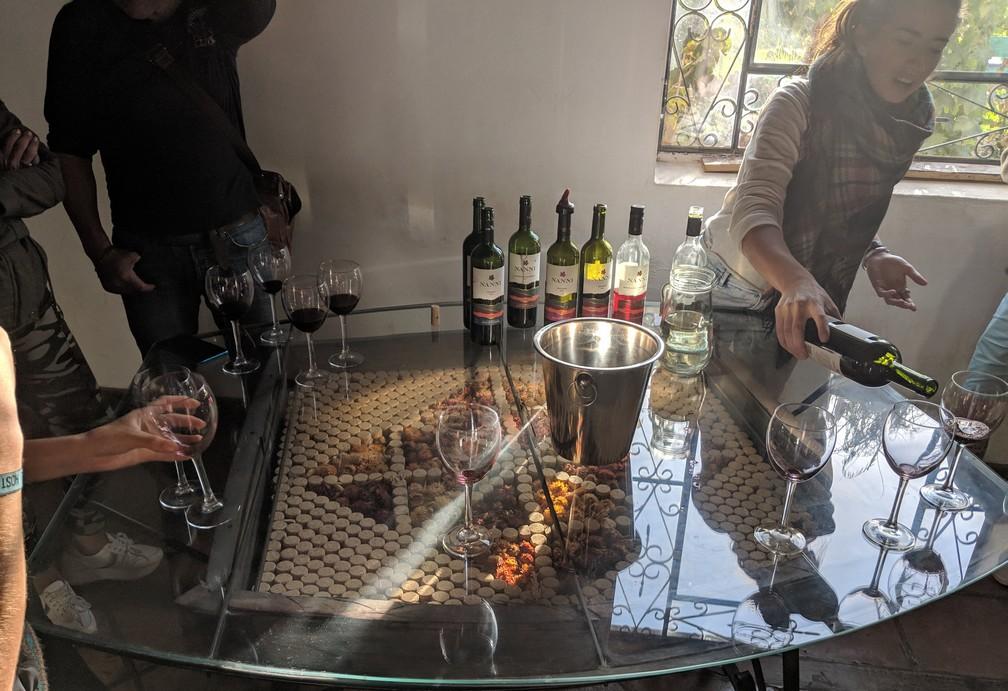 Dégustation de vin à la Bodega Nanni