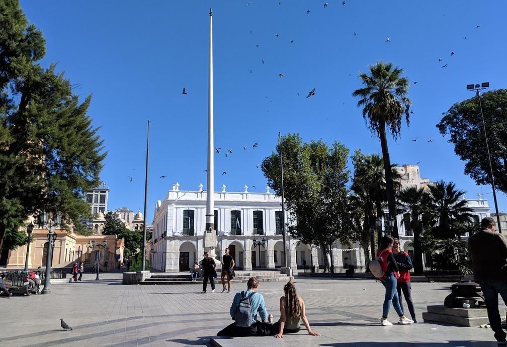 Vue d'ensemble de la place San Martin à Córdoba en Argentine