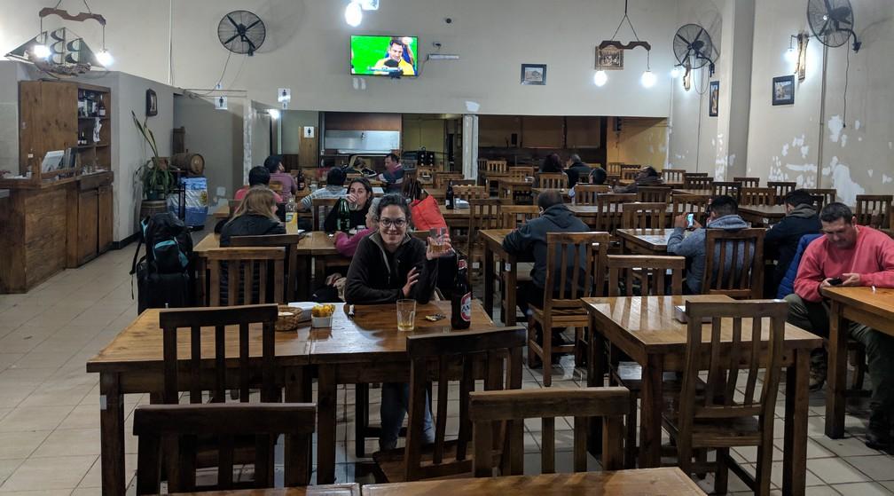 Salle à manger du restaurant La Revancha à Mendoza
