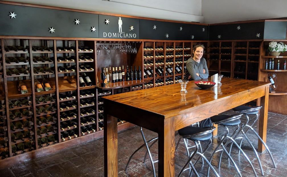 Salle de dégustation de la bodega Domiciano près de Mendoza