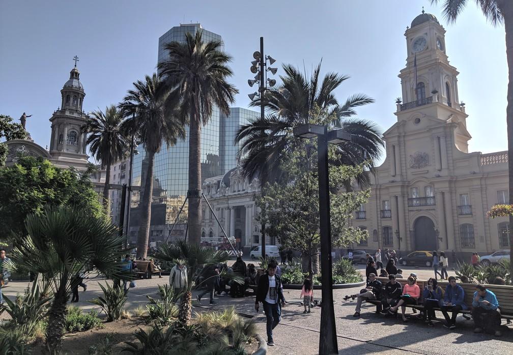 La Plaza de Armas à Santiago du Chili