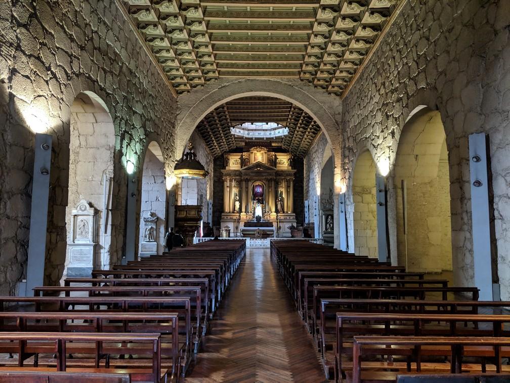 Intérieur de l'église San Francisco à Santiago du Chili
