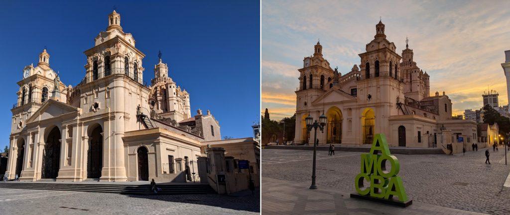 Cathédrale Notre-Dame-de-l'Assomption de jour et au coucher de soleil