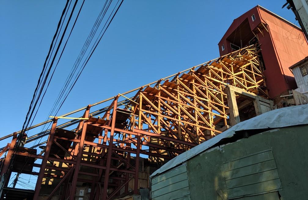 Funiculaire en rénovation à Valparaiso