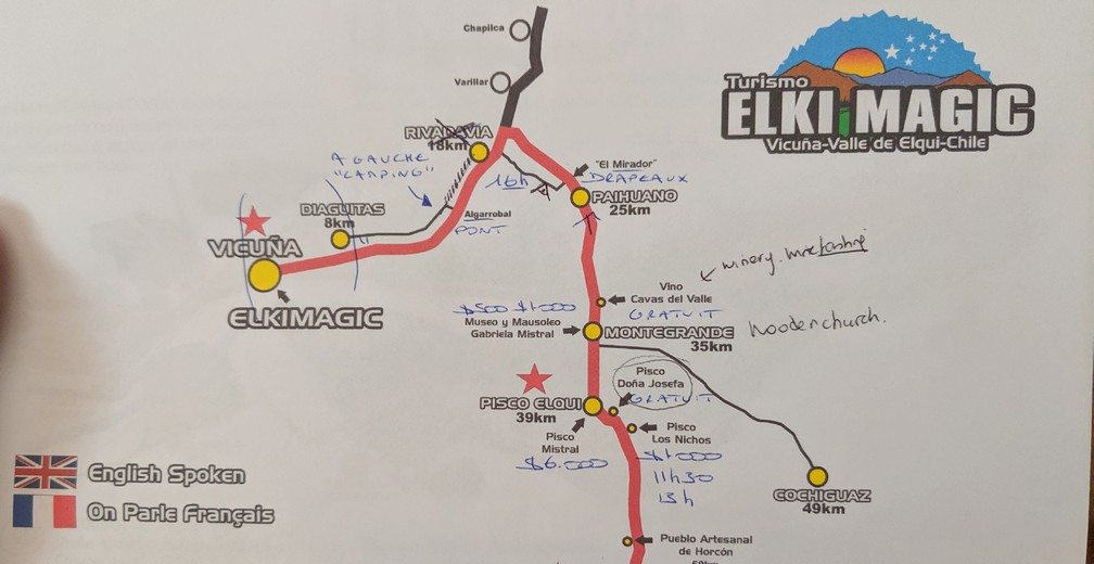 Plan de la descente en vélo d'Elki Magic