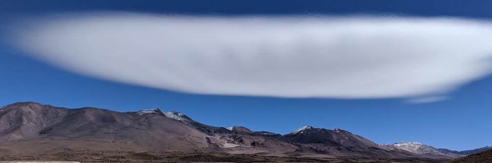 Un nuage de forme bizarre en Bolivie